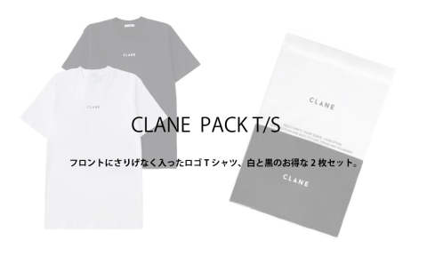 CLANE & CLANE HOMME PACK T/S 入荷しました。
