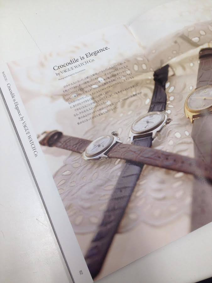 "雑誌掲載情報""PLEASE VOL6""VAGUE WATCH CO. - COSSIN12"