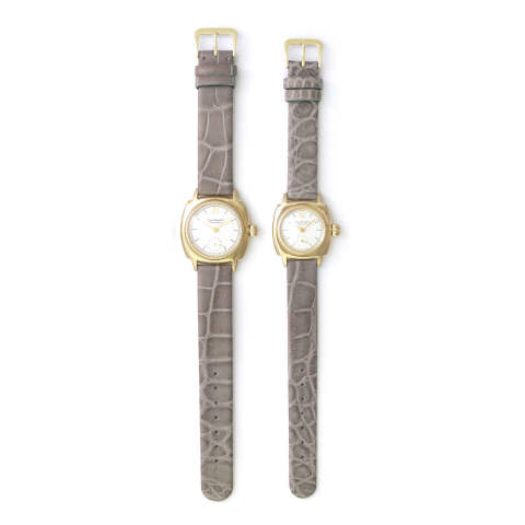 "VAGUE WATCH CO. COSSIN12 ""Crocodile belt"" - YELLOW GOLD × GREY"