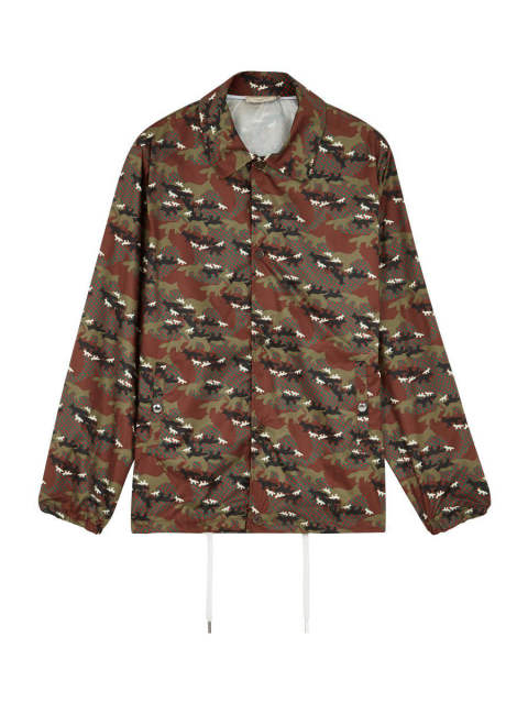 MAISON KITSUNE 17-18AW - ALL-OVER CAMO FOX FOLDABLE BERTIL WINDBREAKER