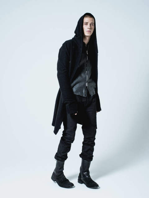 SADDAM TEISSY - ST101-0017A 「Wool Cotton Jersey Hood Coat」