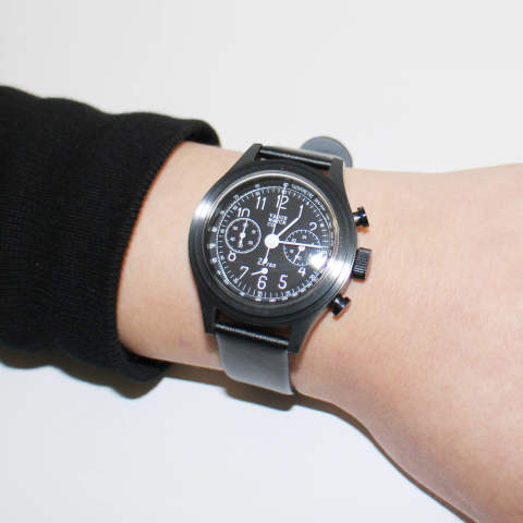 "VAGUE WATCH CO. ""2EYES CHRONOGRAPH BLACK"""