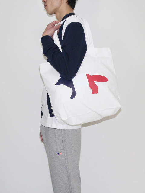 MAISON KITSUNÉ 18SS - TOTE BAG TRICOLOR FOX