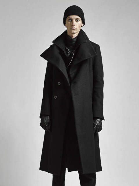 ハイネックメルトンコートロング - Melton High Neck Long Coat VI-2740-06 The Viridi-anne