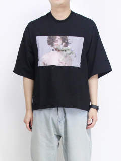 プリントTシャツ - PRINT T-SHIRT - BLACK 657CPM12