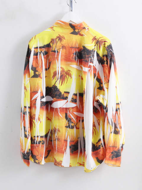 アロハ柄ハンガーシャツ - COMPRESSED ALOHA SHIRT IN THE HANGER MOLD SUNSET