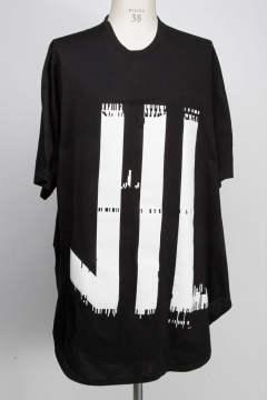 【プリント】 【Tシャツ】 KAMON ROUND T-SHIRT [BLACKxWHITE] 【NILoS】 【7月入荷予定】 【予約商品】 【ニルズ】 【カットソー】
