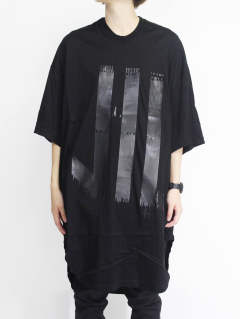家紋Tシャツ - KAMON ROUND T-SHIRT - BLACK×BLACK