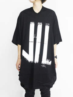 家紋Tシャツ - KAMON ROUND T-SHIRT - BLACK×WHITE
