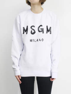 ロゴスウェット - MSGM MENS LOGO SWEAT - WHITE