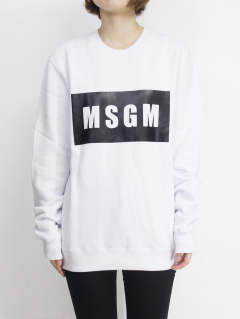ロゴスウェット - MSGM MENS BOX LOGO T-SHIRTS - WHITE