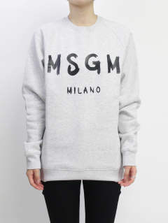 ロゴスウェット - MSGM MENS LOGO SWEAT - GREY