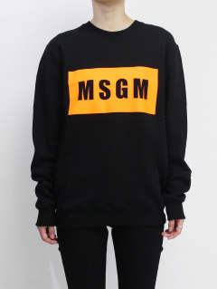ロゴスウェット - MSGM MENS BOX LOGO T - BLACK