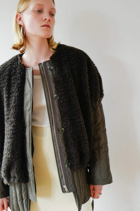CLANE - BOA VEST LAYERED DOWN COAT