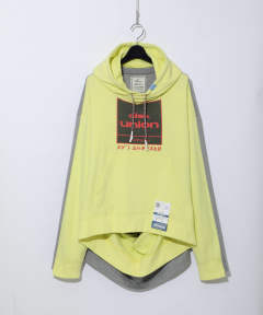diskunion コラボ ダブルフロントフーディ - double front hoodie - yellow
