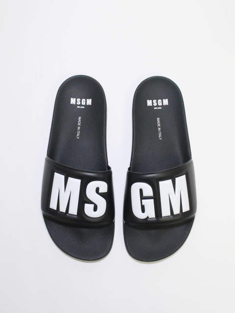 MSGMロゴ サンダル -  LOGO POOL SLIDE - BLACK