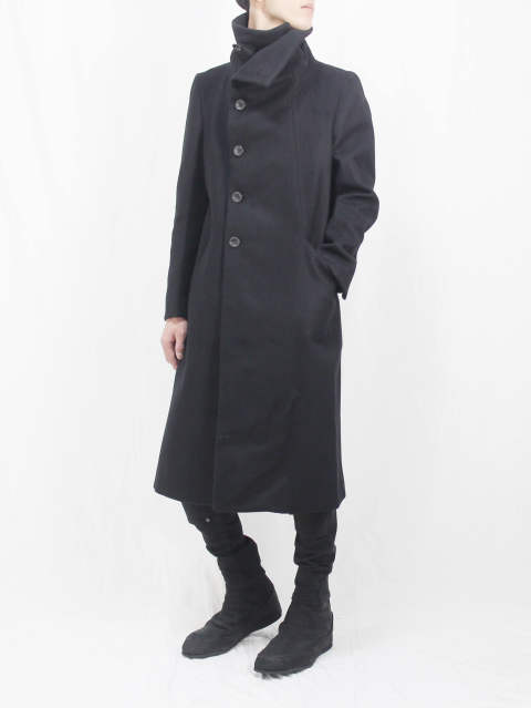 The Viridi-anne 17-18AW - Melton High Neck Long Coat STYLE